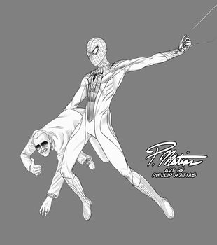 Amazing Spider-Man with Stan Lee by BW-Straybullet