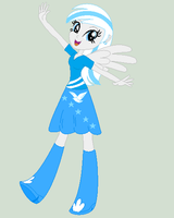 Doveshine as an Equestria Girl by Jess4horses