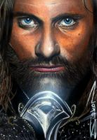 LOTR Aragorn Sketch Card by RandySiplon