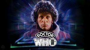 50th Anniversary Tom Baker Wallpaper (Ver. 1) by theDoctorWHO2
