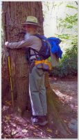 Tree hugging on Alum Cave Trail 2 by slowdog294