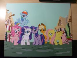 Papercraft - The Mane Six by JackOfMostTrades