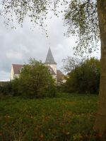 Autumn Church 1 by Cat-in-the-Stock