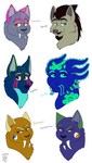 Sylestia Pets- Headshots 01 by MetalWolfGemstone