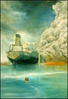 October 6th 2002 Attack against the tanker Limburg by jbillustration