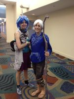 (MLP) Jack Frost and Vinyl Scratch Cosplays! by KrazyKari
