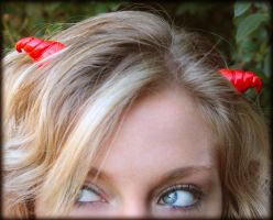 Red Devil Horns with Model by NeverlandJewelry