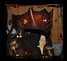 shaman leather tiara by Lagueuse