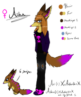 Asha ref. sheet .:For my other best friend:. by XxAnthro16xX