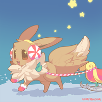Day 13 - Eevee by Cuney