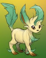 Leafeon by skeletall