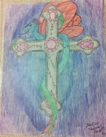 Fairy Dragon on a Cross by TheGame22q