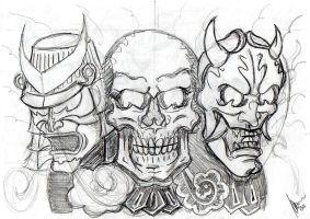 Honour, death and evil -sketch by dfmurcia