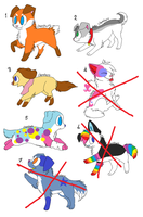 More Puppy Adoptables by MimiTheFox