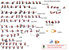 sword mario sprite sheet by dreamkaster64