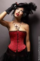 Red corset 2 by hellacioushannah