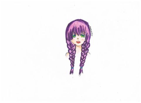 purple braids by AgusLaLoca