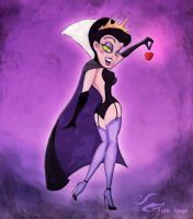 Tex Avery Style Wicked Queen by Alias-Hugo