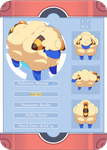 PKMNation: Baadal the Mareep Reference Sheet by pixielog