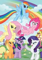 My Little Pony Print by paulabstruse