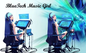 BlueTech Music Girl for xwidget (animated) by jimking