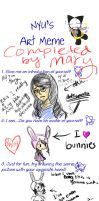 Art Meme completed by Silverblueroses by silverblueroses