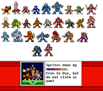 Robot Masters without PowerBF counterpads, NEO GEO by MegaRed225