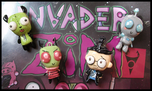 Chibi-Charms: Invader Zim Cast by MandyPandaa