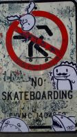 No Skateboarding by Tabs17