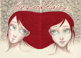 Long Red Hair by Ink-Yami