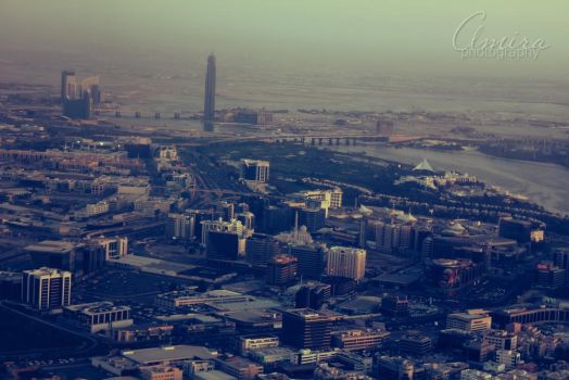 DXB from plane by amirajuli