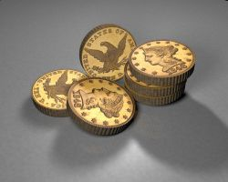 USA 10 Dollar 3D Coin_by dabbexsahi by dabbex30