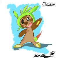 Pokemon X and Y: Chespin by katproductions6