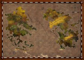 The Lands of Aeldwain and Miren-Zou by Kaloith