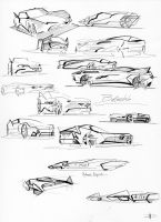 Sketching Batmobiles by fjagcars