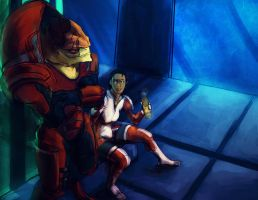 Ashley and Wrex by EleganceLiberty