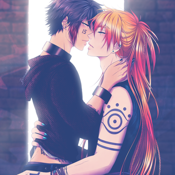 A Kiss On The Run ~ Nanbaka Fanart by balvana