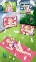 Commisioned: Sleepy Tsunade by Matrix2006