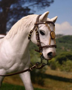 Spanish Bridle made for Schleich horse by PhoenixRanch