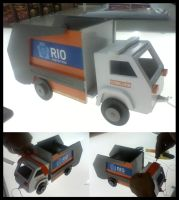 MDF Toy Trash Truck - painted by bapabst