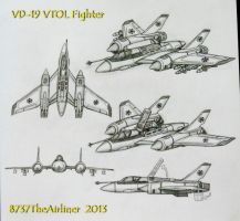 VD-19 VTOL Fighter by B737TheAirliner