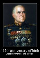 Georgy Zhukov - 115 years by Mihenator