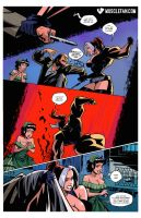 Female Muscle Fist Meets Mugger's Face by muscle-fan-comics