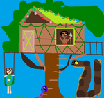 kaa and and kids tree house home by mewt66
