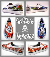 Conflicting Skelletons Shoes by begin-R