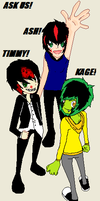 ASK US! ASHER, TIMMY, AND KAGE!! cx by Saviour-Of-The-Fate