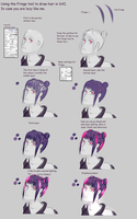 Making hair with Fringe setting in SAI [Steps] by Bastetmoon