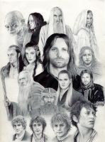 lord of the rings by LaChauveSourisDoree