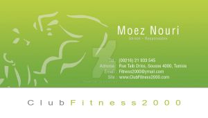 Fitness 2000 Carte Visite 2 by Fnayou