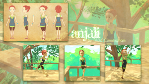 Young Anjali- Character Sheet by viper-fish